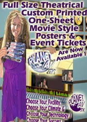 Giant 27 Inch X 40 Inch Movie Theater One Sheet Custom Printed Artist & Event Promotinal Posters & Full Color Bar Coded Event Or Venue Tickets Are Now Available!